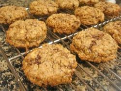 Coconut, Walnut, and Chocolate Cookies